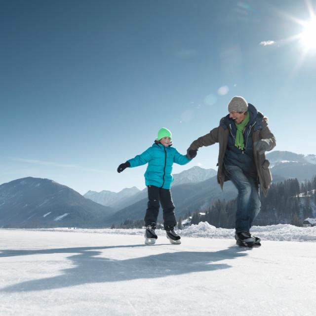 Eislaufen Weissensee