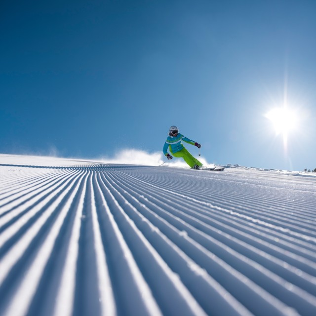Skifahrer in Hinterstoder