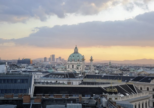 View of St. Charles Cathedral from The Ritz Carlton, Vienna