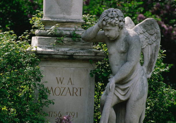 Wolfgang Amadeus Mozart  Tombstone in Vienna  St. Marx Cemetery