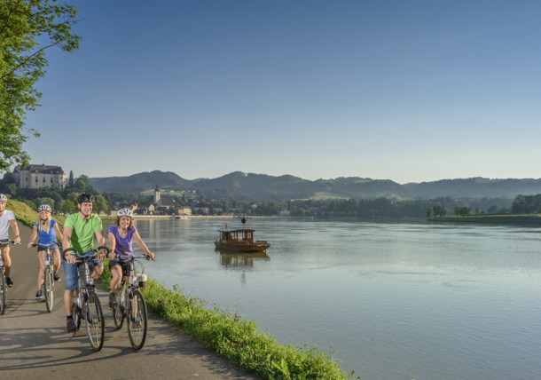 Dunajská cyklostezka u města Grein