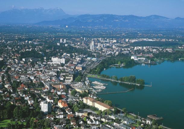 Bregenz am Bodensee in Vorarlberg