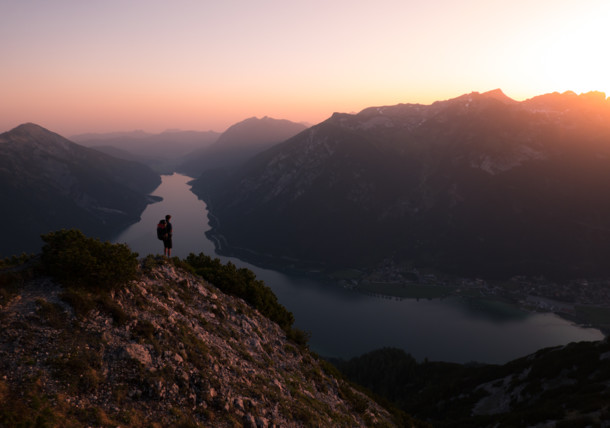 Na vrcholu hory Bärenkopf v Pertisau