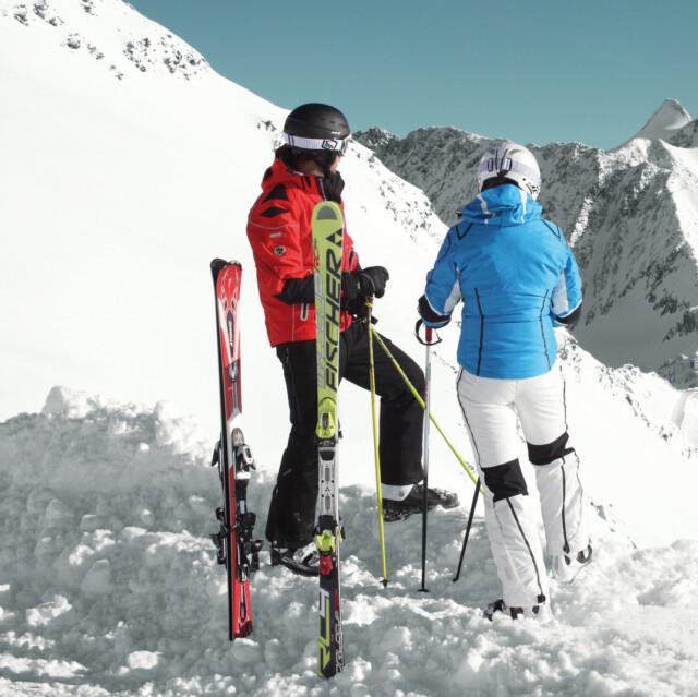 Skigebiet auf dem Stubaier Gletscher, Tirol