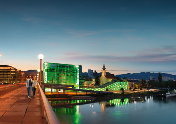Danube Linz with Ars Electronica Center