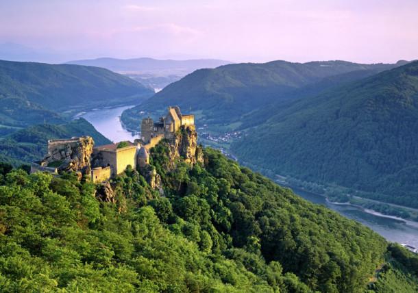 Ruiny zamku Aggstein w Dolinie Wachau