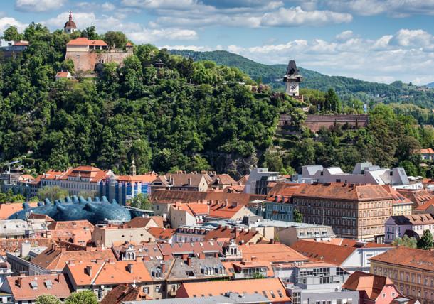 Le Schlossberg de Graz