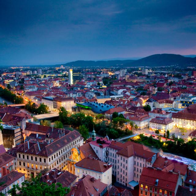 Blick über die Altstadt Graz