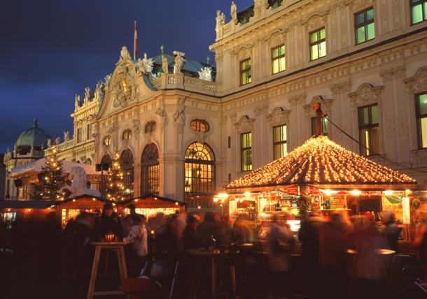 Julmarknad på Belvedere
