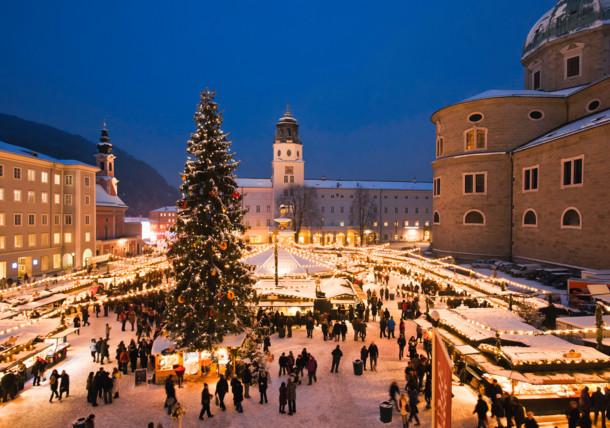 Mercado de Navidad Christkindlmarkt en Salzburgo