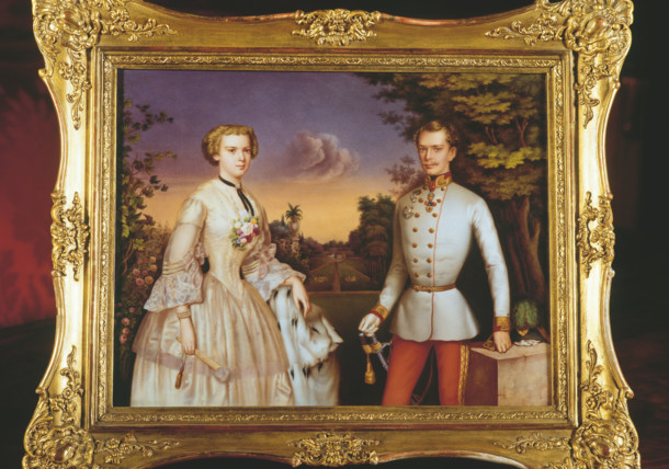 """Painting of """"Sisi"""" and Franz Joseph I."""