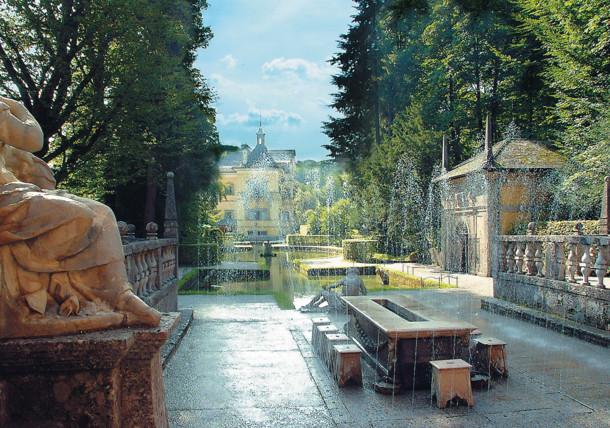 Missa inte Hellbrunns fontäner
