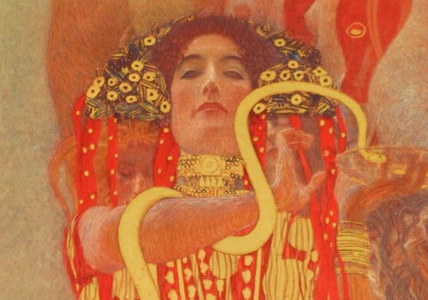 Gustav Klimt, Medizin (Detail: Hygieia), 1900/07