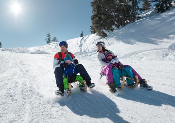Family, sledding, Schladming