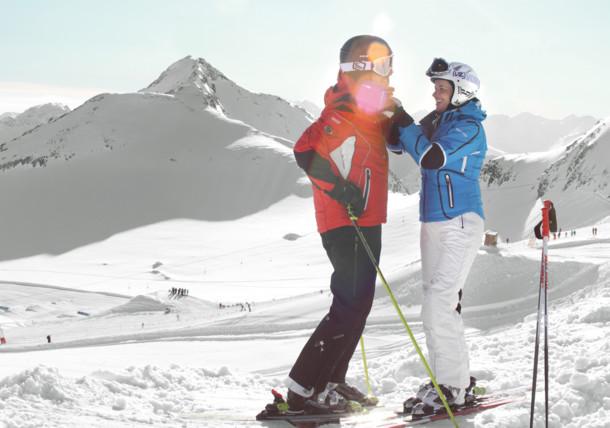 Skiing in Stubai, Tirol