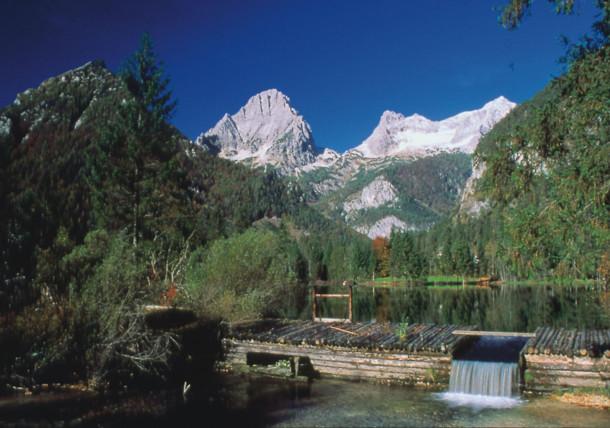 Lake Schiederweiher in Upper Austria