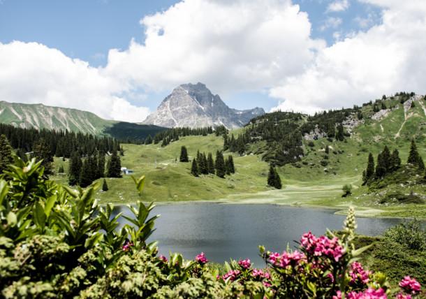 Lake Körbersee in Vorarlberg