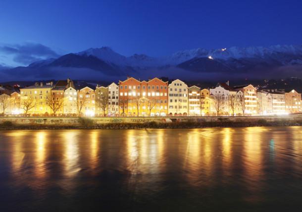 Innsbruck Mariahilf at night