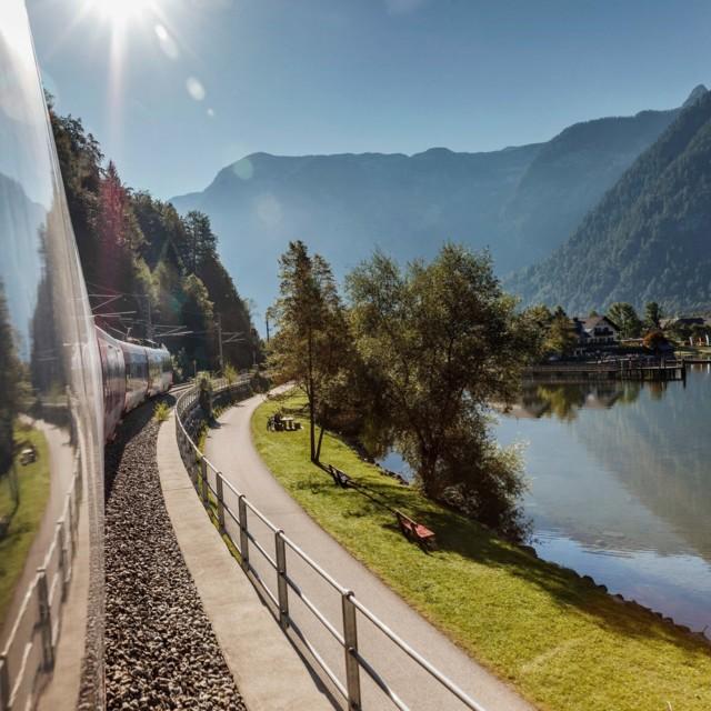 Landschaft aus Zug