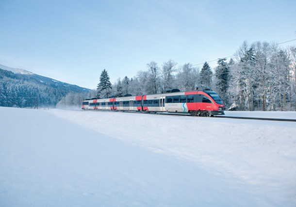 ÖBB RegioBahn in Winter