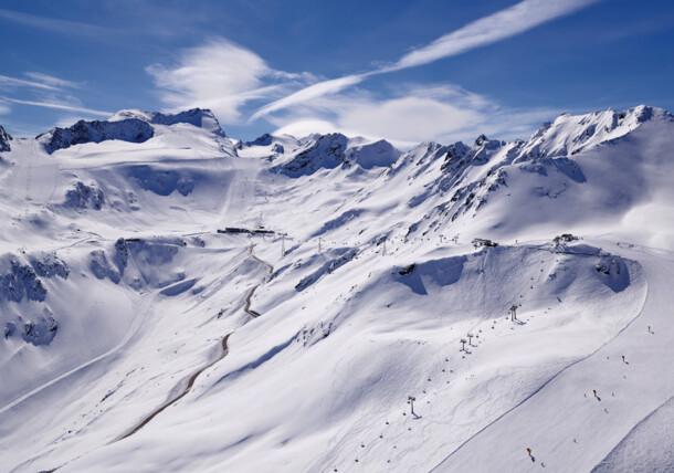 Sölden glacier ski region Rettenbachferner