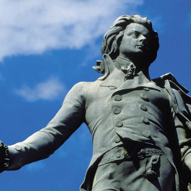 Mozart-Denkmal im Wiener Burggarten