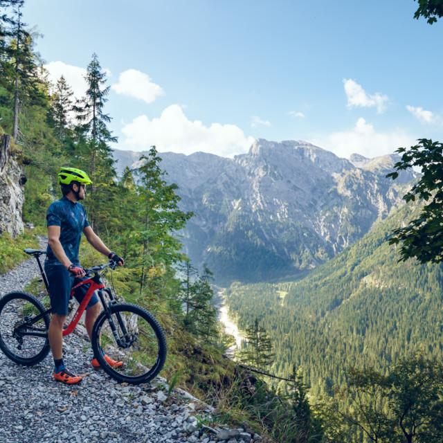 Mountainbiker in der Region Achensee