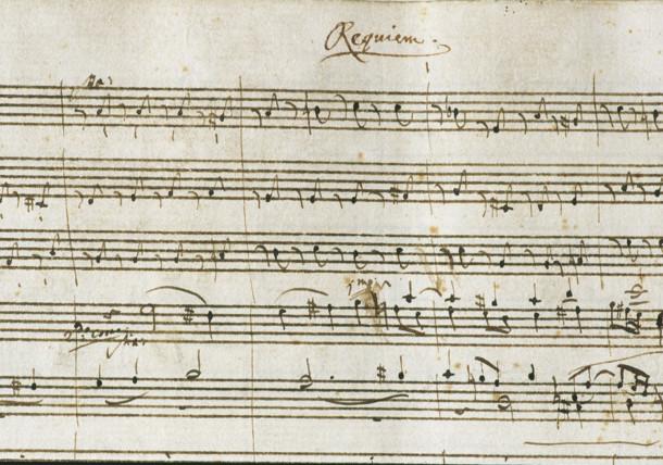 """Original """"Requiem"""" notes by W. A. Mozart"""