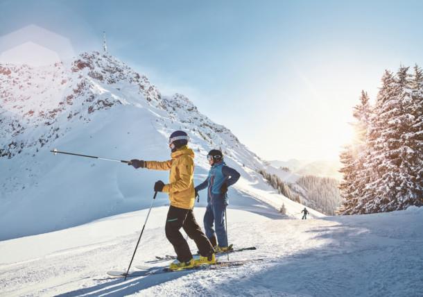 The St. Johann in Tirol ski area with the Kitzbüheler Horn