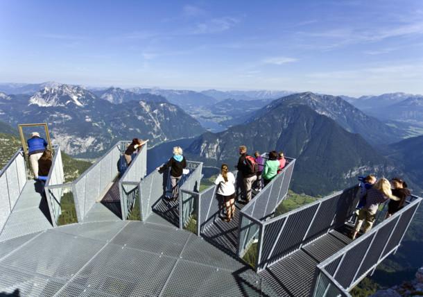 Uitzichtsplatform 5fingers in Dachstein