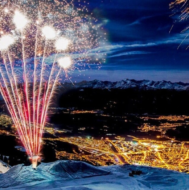New Year's fireworks in Innsbruck