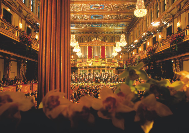 New years concert at the Musikverein in Vienna