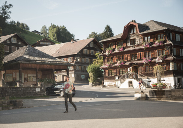 Georg Bechter is an architect in Langenegg and talks about the Umgang Bregenzerwald