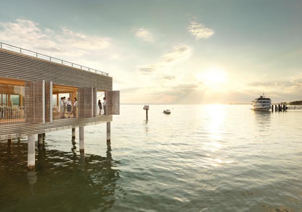 Plovárna hotelu Seehotel am Kaiserstrand na břehu Bodamského jezera