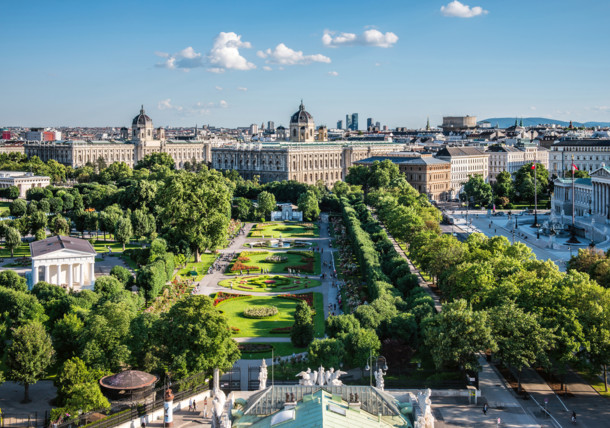 منظر لمنتزه ومتحف فولكسجارتن في فيينا