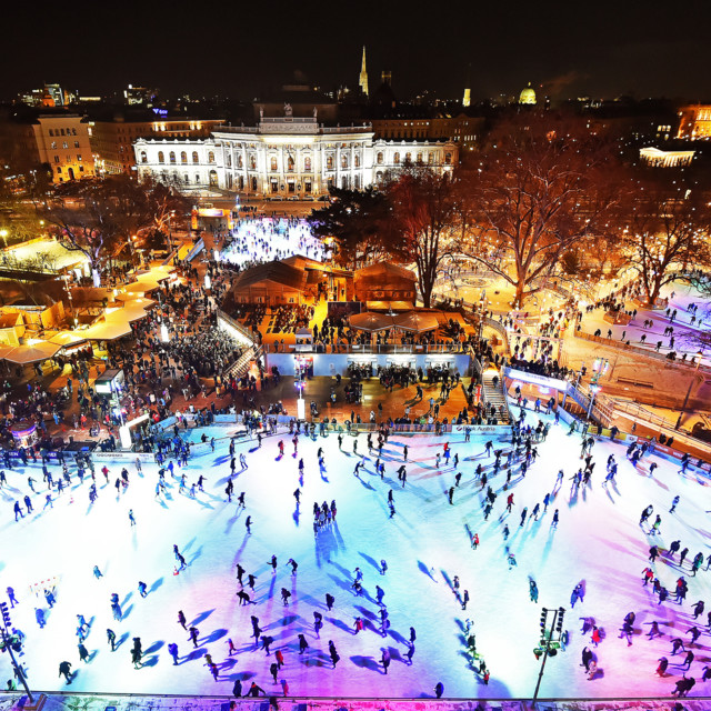 Ice skating at the Vienna Ice Dream