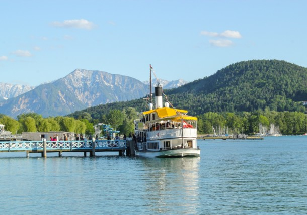 Boat trip on Lake Wörthersee: East bay Karawanken