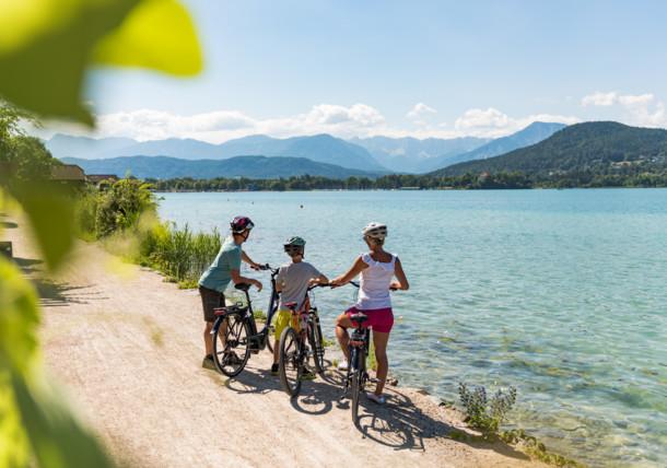 Pleasure cycling in Klagenfurt