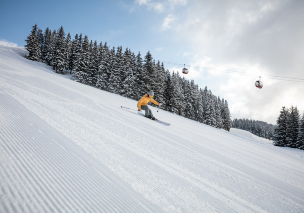 Saalbach winter ski piste