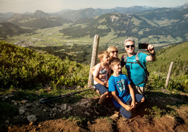 Hiking at the Kitzbühler Horn Mountain