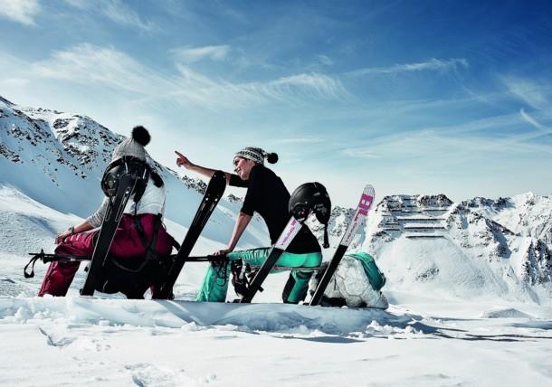 Skifahrer Hochsillian