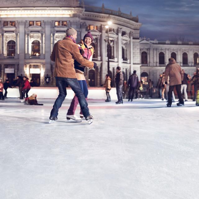 Eislaufen beim Burgtheater Wien