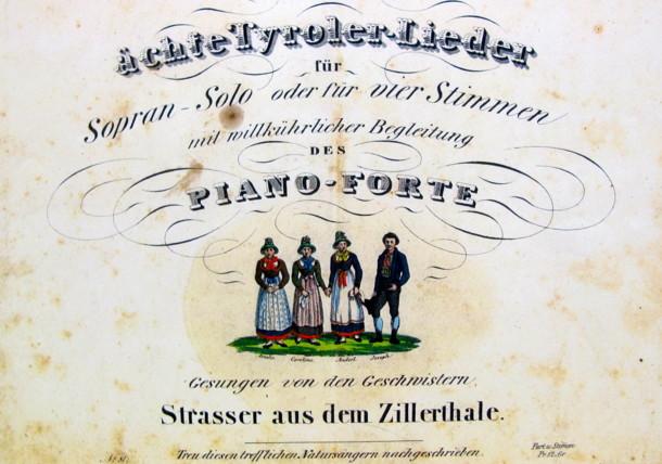 Notenblatt der Familie Strasser