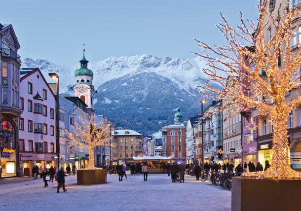 Mercado de Navidad en la calle Maria-Theresien-Straße, Innsbruck
