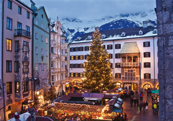 Christmas market in Innsbruck's old town