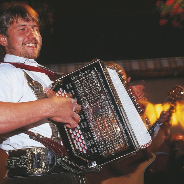 Musiker in Tirol / Ziehharmonika