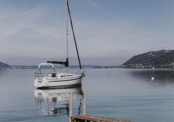 Sailboat at the Lake Attersee
