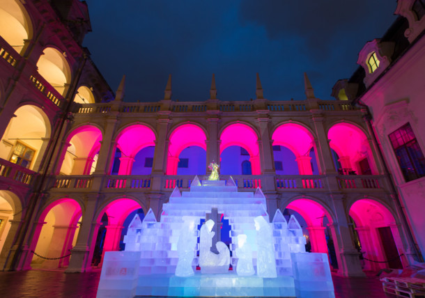 Ice nativity scene, Graz