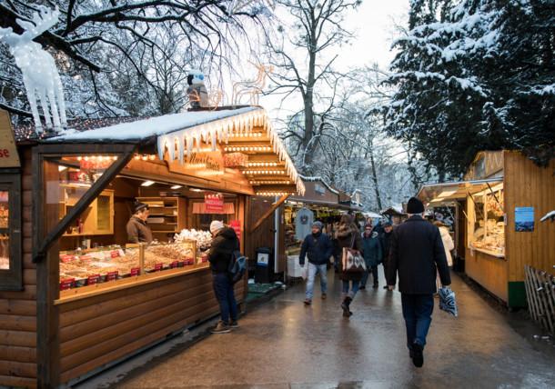 Christmas Market in the Volksgarten