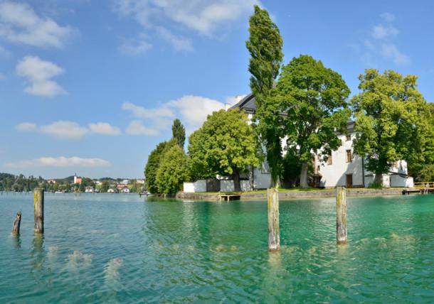 Insel Litzlberg im Attersee